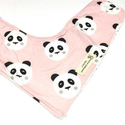 bandana bebe pandas rosa frente