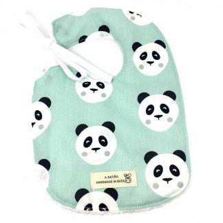 babero panda mint