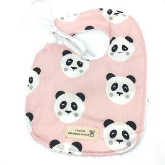 babero panda rosa