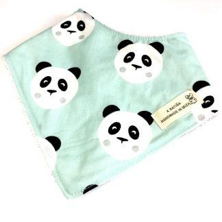 bandana bebe osos panda mint