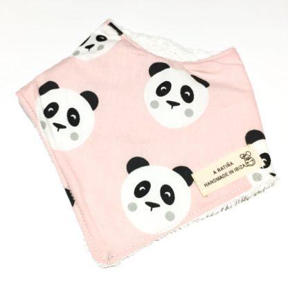 bandana bebe pandas rosa