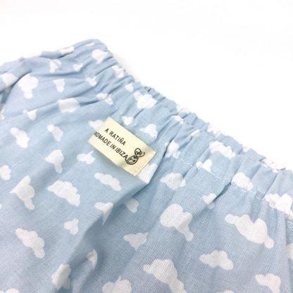 cubrepañal azul detalle