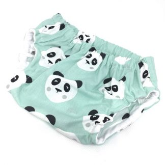 cubrepañal panda mint