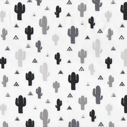 tela cactus blanco y negro