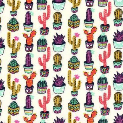 tela estampada cactus de colores