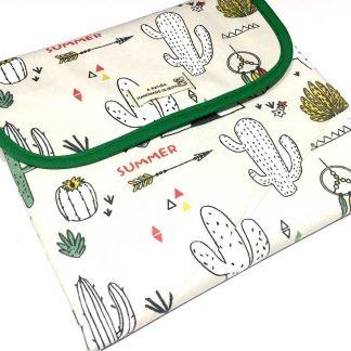 cambiador portátil bebé tipis cactus