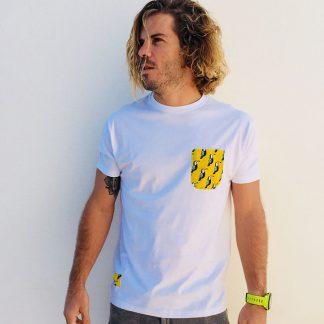 camiseta chico blanca bolsillo tucanes