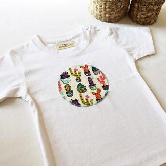 camiseta niños cactus de colores