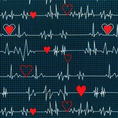 tela estampada electrocardiograma
