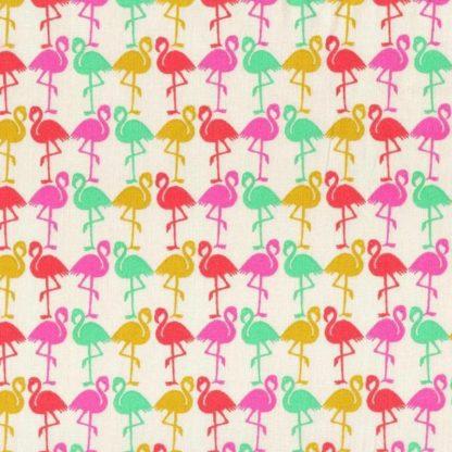 tela flamencos de colores