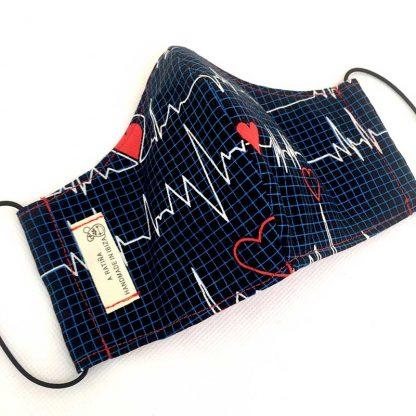 mascarilla electrocardiograma abierta