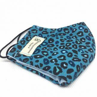 mascarilla leopardo azul