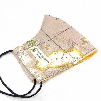 mascarilla mapa mundi beige
