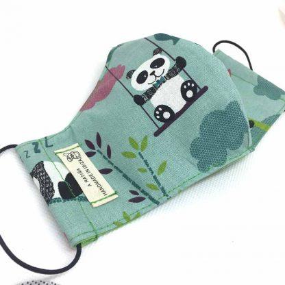 mascarilla panda arboles abierta