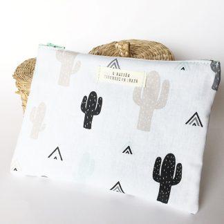 neceser cactus blanco y negro
