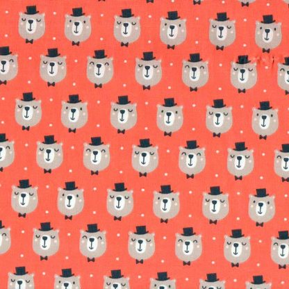 tela estampada osos sombrero