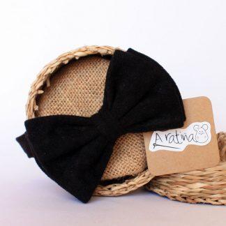 pajarita terciopelo negro
