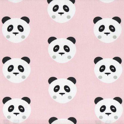 tela estampada osos panda rosas