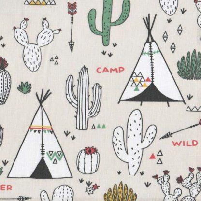 tela tipis y cactus
