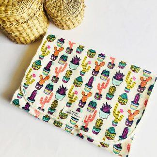 toalla de lactancia cactus de colores