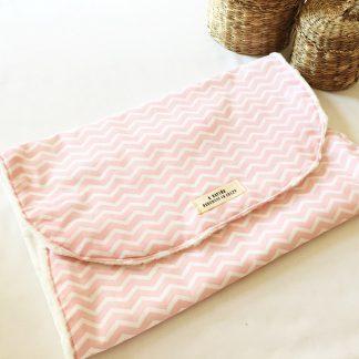 toalla lactancia zigzag rosa