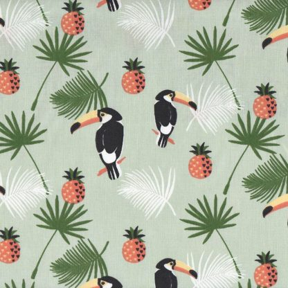 tela tucanes y piñas