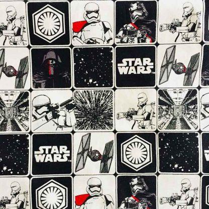 tela estampada starwars viñetas