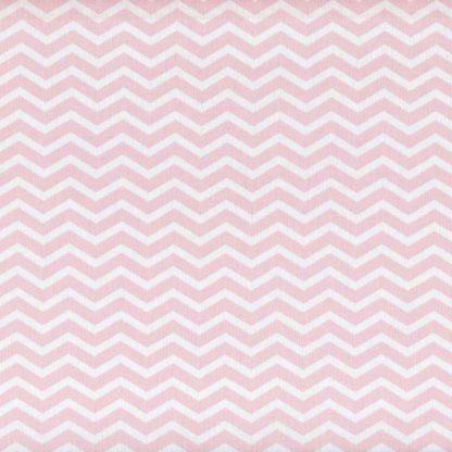 tela estampada zigzag rosa