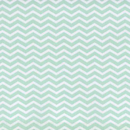 tela zigzag verde agua